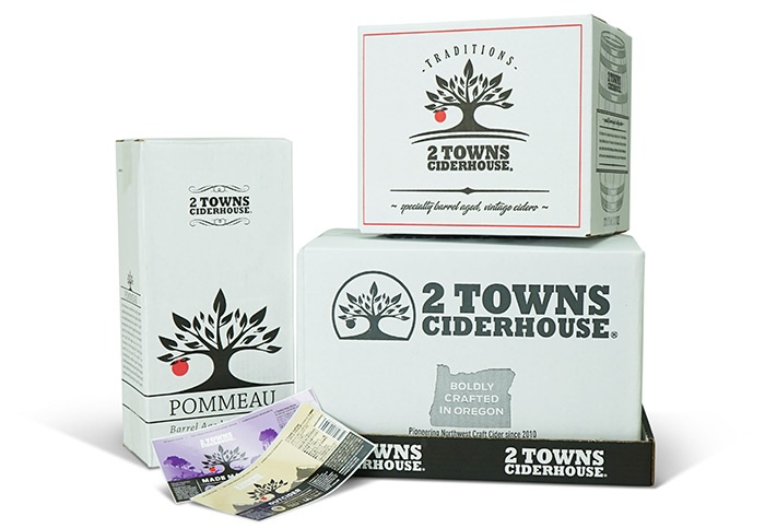 2 Towns Cider Packaging