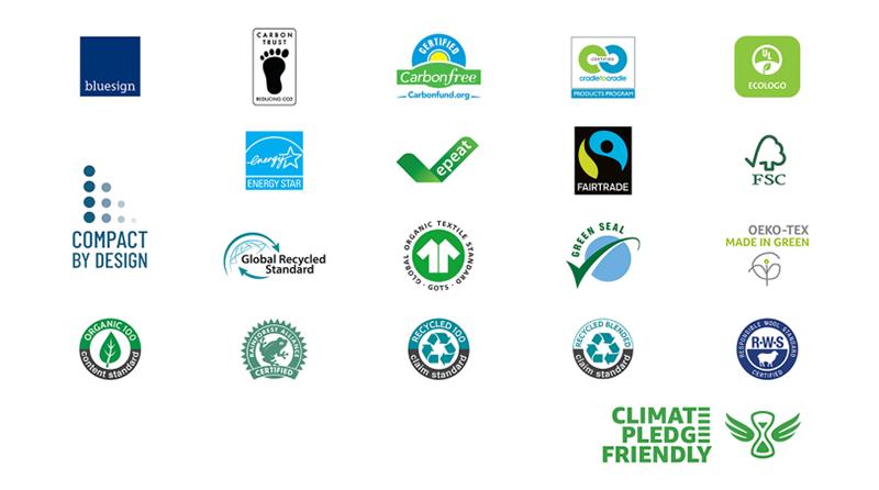 Amazon Climate Pledge Logos