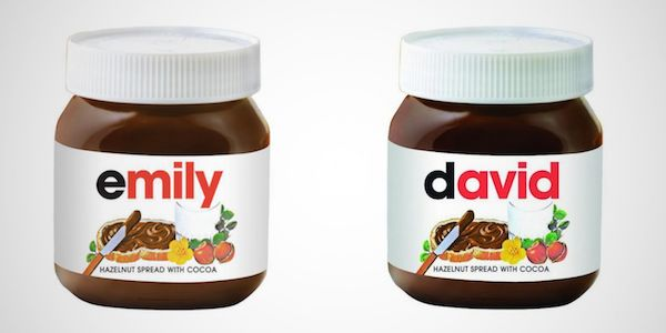 Personalized Nutella
