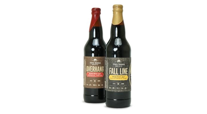 Two Beers_Wood Veneer Labels