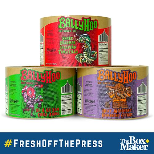 BallyHoo Hot Sauce Labels