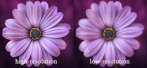High Resolution vs Low Resolution