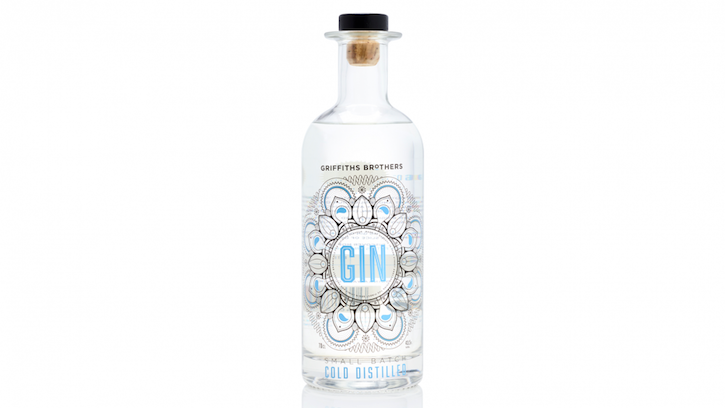 Griffith Brothers Gin Bottle
