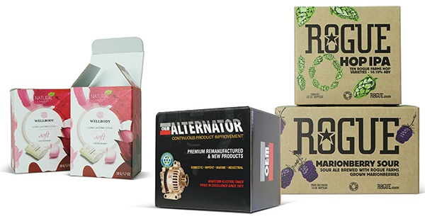 Corrugated packaging examples