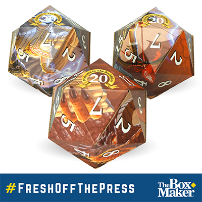 Corrugated D20 Promotional Dice