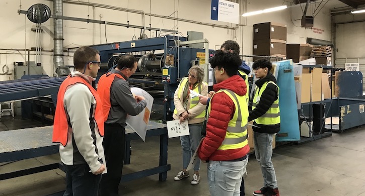 Students Touring Packaging Plant