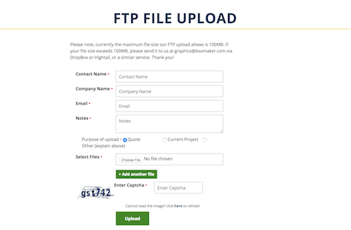 FTP File Upload