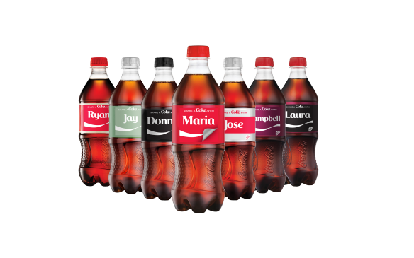 Share a Coke bottles
