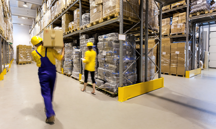 Warehouse Workers in Supply Chain